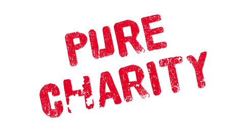 Pure Charity rubber stamp