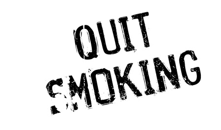 Quit Smoking rubber stamp. Grunge design with dust scratches. Effects can be easily removed for a clean, crisp look. Color is easily changed. Ilustracja