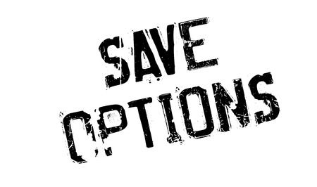 liberate: Save Options rubber stamp