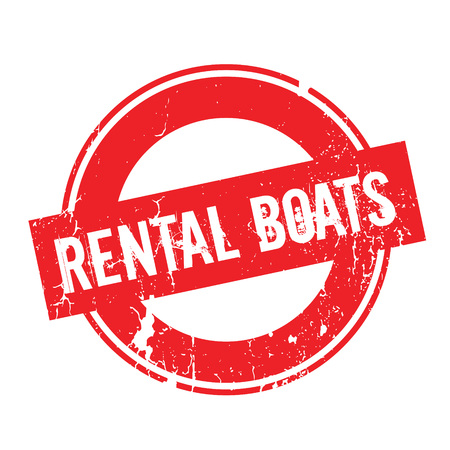 Rental Boats rubber stamp