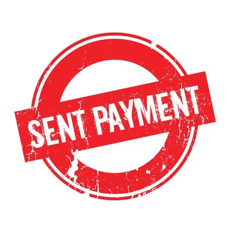 Sent Payment rubber stamp