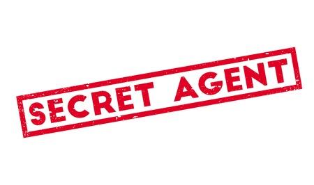 furtive: Secret Agent rubber stamp Stock Photo