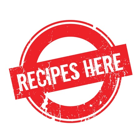 Recipes Here rubber stamp