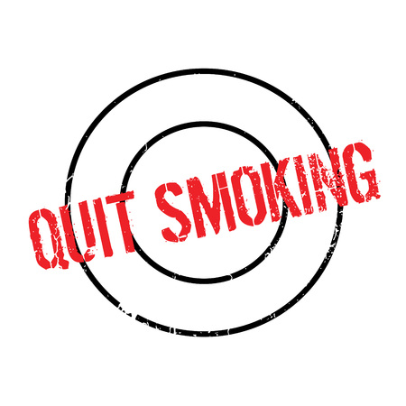 quit: Quit Smoking rubber stamp