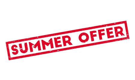 stock certificate: Summer Offer rubber stamp