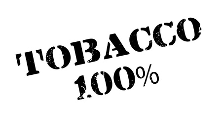 baccy: Tobacco 100% rubber stamp