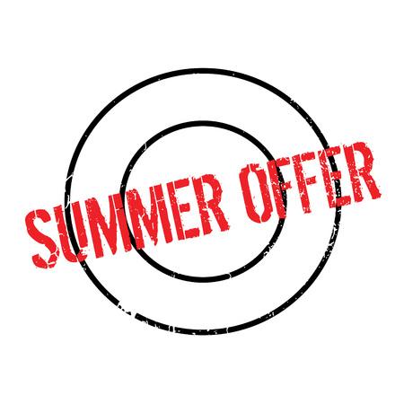 Summer Offer rubber stamp