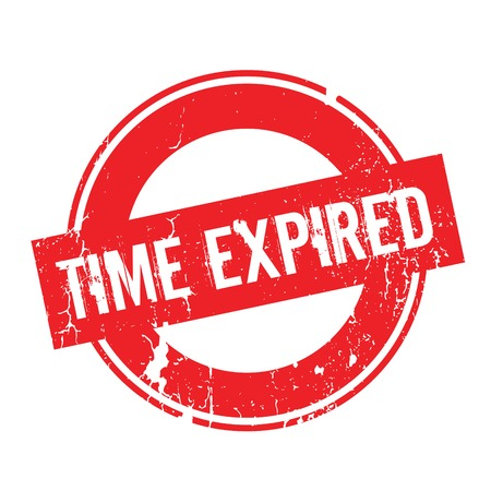 Time Expired rubber stamp