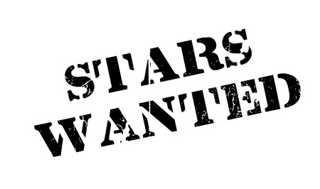 luminary: Stars Wanted rubber stamp Illustration