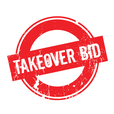 bid: Takeover Bid rubber stamp Vectores