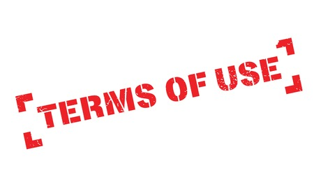 use regulations: Terms Of Use rubber stamp Illustration