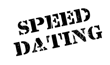 Speed Dating rubber stamp