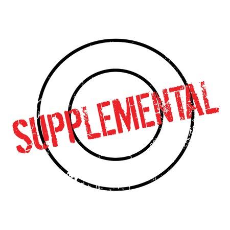 Supplemental rubber stamp Illustration