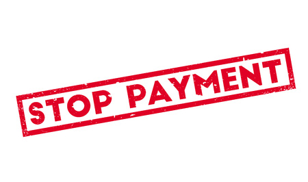Stop Payment rubber stamp Imagens - 77938187