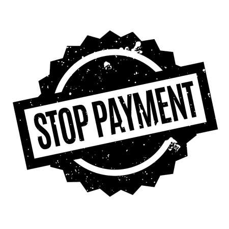canceled: Stop Payment rubber stamp Illustration
