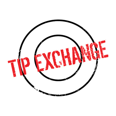 interdependence: Tip Exchange rubber stamp