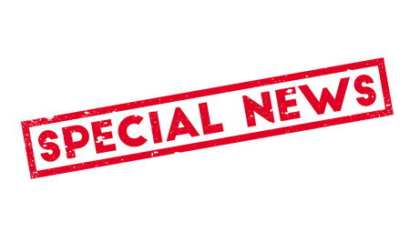 Special News rubber stamp