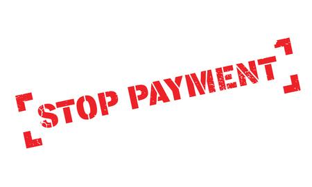 Stop Payment rubber stamp Ilustração
