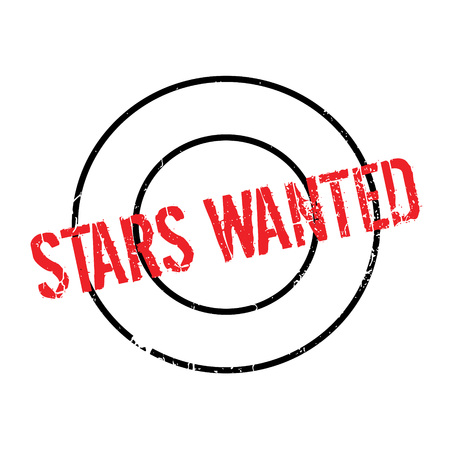 Stars Wanted rubber stamp Illustration
