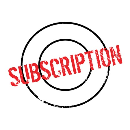 Subscription rubber stamp