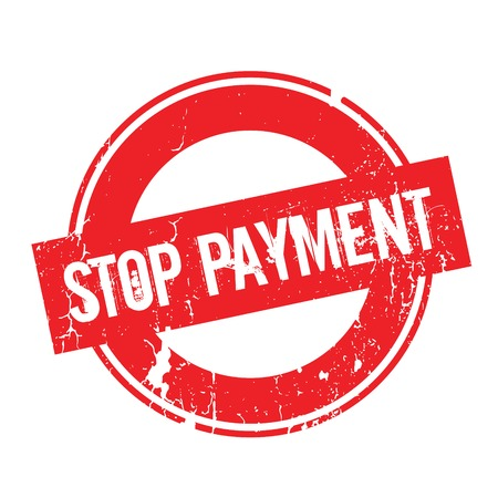 canceled: Stop Payment rubber stamp. Grunge design with dust scratches. Effects can be easily removed for a clean, crisp look. Color is easily changed. Illustration