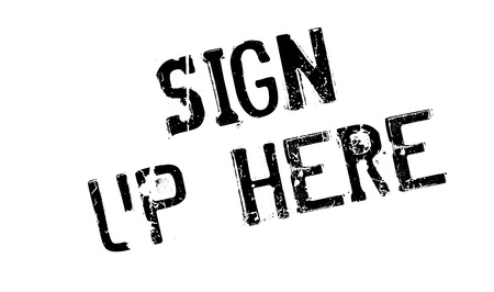 settle up: Sign Up Here rubber stamp Illustration