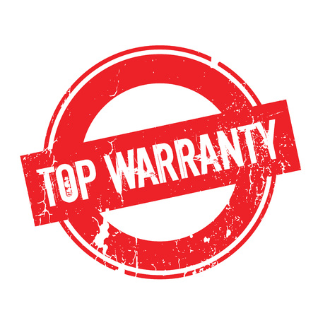 surety: Top Warranty rubber stamp. Grunge design with dust scratches. Effects can be easily removed for a clean, crisp look. Color is easily changed.