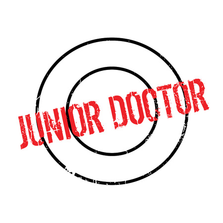 Junior Doctor rubber stamp. Grunge design with dust scratches. Effects can be easily removed for a clean, crisp look. Color is easily changed.