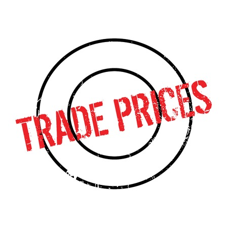 Trade Prices rubber stamp. Grunge design with dust scratches. Effects can be easily removed for a clean, crisp look. Color is easily changed. Illustration