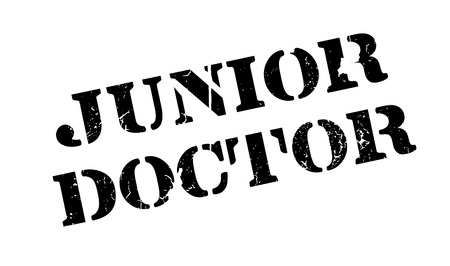 general practitioner: Junior Doctor rubber stamp. Grunge design with dust scratches. Effects can be easily removed for a clean, crisp look. Color is easily changed.