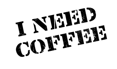 urge: I Need Coffee rubber stamp. Grunge design with dust scratches. Effects can be easily removed for a clean, crisp look. Color is easily changed. Illustration