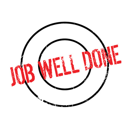 Job Well Done rubber stamp. Grunge design with dust scratches. Effects can be easily removed for a clean, crisp look. Color is easily changed.