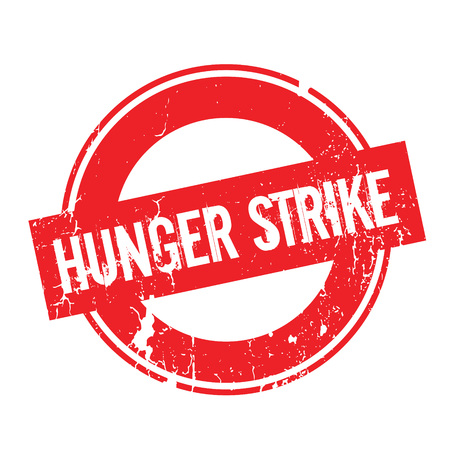 Hunger Strike rubber stamp. Grunge design with dust scratches. Effects can be easily removed for a clean, crisp look. Color is easily changed.