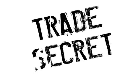 trade secret: Trade Secret rubber stamp. Grunge design with dust scratches. Effects can be easily removed for a clean, crisp look. Color is easily changed. Stock Photo