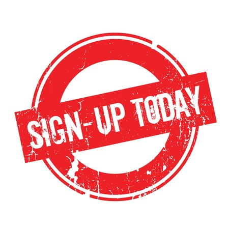 settle up: Sign-Up Today rubber stamp