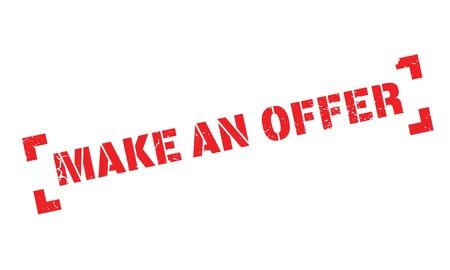 accomplish: Make An Offer rubber stamp Illustration