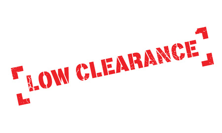 clearing: Low Clearance rubber stamp