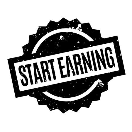 Start Earning rubber stamp