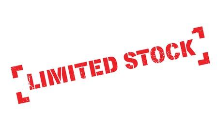 Limited Stock rubber stamp Illustration