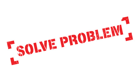 settle up: Solve Problem rubber stamp