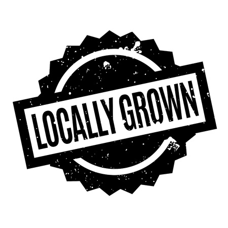 Locally Grown rubber stamp Illustration