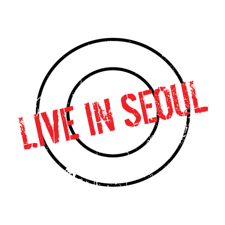 Live In Seoul rubber stamp