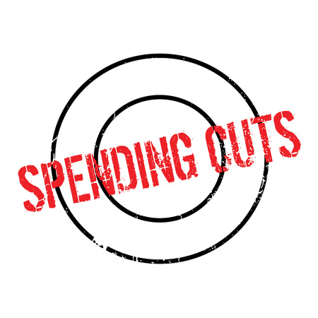 Spending Cuts rubber stamp Illustration