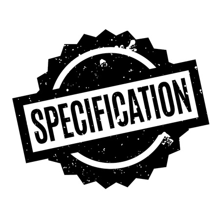 Specification rubber stamp