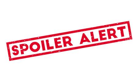 spoil: Spoiler Alert rubber stamp