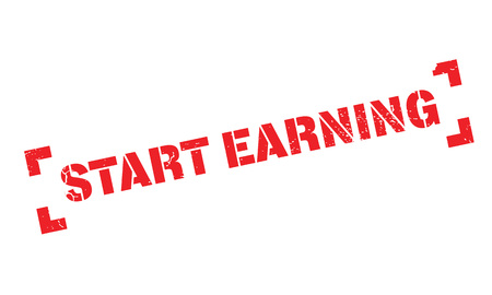 Start Earning rubber stamp