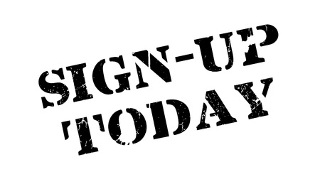 immediately: Sign-Up Today rubber stamp