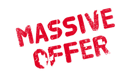 Massive Offer rubber stamp