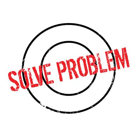 Solve Problem rubber stamp