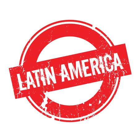 Latin America rubber stamp Illustration